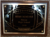 6x8 Football Plaque Football Trophy Awards