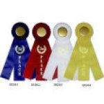 Classic Three Streamer Rosette Award Ribbon Basketball Trophy Awards