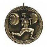 Weightlifer Medal Education Trophy Awards