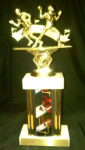 Double Football Figure Trophy Football Trophy Awards