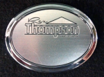 Oval Name Badge W/ Backing 2.75 X 2 Plastic Engraved Name Badges