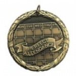 Perfect Attendace Medal Wreath Medal Awards